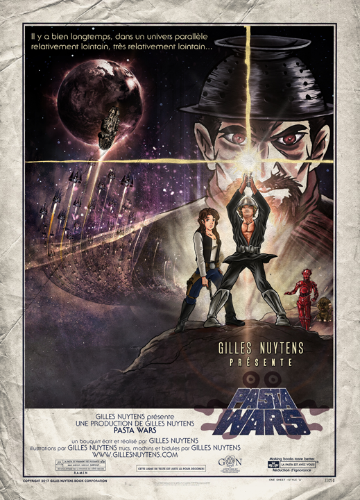 PASTA WARS THE PASTA AWAKENS, a novel written by Gilles Nuytens